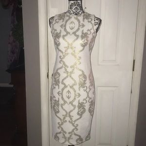 A fabulous nwot Jax pearl and gold dress
